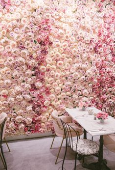 The Londoner, Blooming Lovely Café, London England. Pretty In Pink, Pink Flowers, Beautiful Flowers, Wall Flowers, Girls With Flowers, Beautiful Beautiful, Coffee Shop Design, Cafe Design, Interior Design
