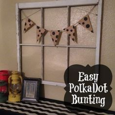 Easy Polka Dot Bunting | Craft Dictator