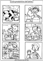 ciclo di produzione del latte