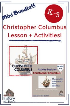 Discover, learn, and explore with Christopher Columbus! In lesson #1 (of a 34-week study of early American history) PLUS - get the activity book about Columbus that includes:   a map, word search, cloze passage, & coloring page.   #ColumbusDay #ChristopherColumbus #elementaryhistory #HistoryatHome #Activities #homeschool #pairpack #minibundle #distancelearning Learning Resources, Book Activities, Classroom Resources, Teacher Resources, Teaching Ideas, Teaching First Grade, Elementary Teaching, Types Of Learners, 2nd Grade Classroom