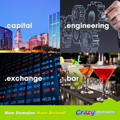 Engineer an excuse to replace your boring old domain with something more unique to your business? What a capital idea! http://www.crazydomains.com/?picapexba  Choose from #CAPITAL #ENGINEERING #EXCHANGE and #BAR this week.  #webdomains #TLD #domainnames
