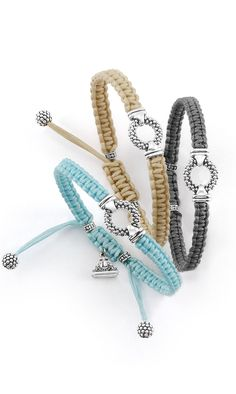 Caviar + Macrame = the made-for-summer bracelet. LAGOS Jewelry
