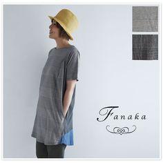 【Fanaka ファナカ】 ボーダー カットソー ワンピース (61-2521-201)