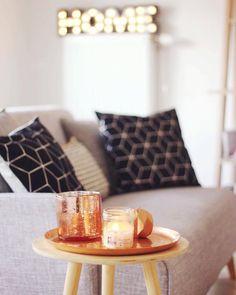 Home - Décoration Cuivre, H&M Home, Maisons du Monde, Pillow, coussins, scandinave, bougie, candle