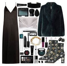 """HOLIDAY PARTY"" by queen-laureen ❤ liked on Polyvore featuring Valentino, Jacques Vert, Georgine, Raey, NARS Cosmetics, Smashbox, Betsey Johnson, Maybelline, Essie and Verali"