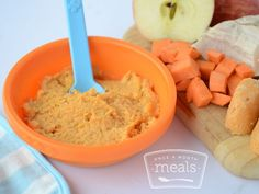 Adding sweet potatoes and apples is a great way to introduce chicken to your little one. Enjoy today or freeze for later!