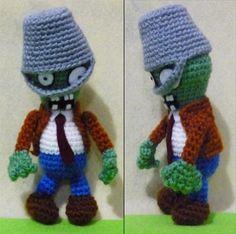 Crochet Tube Buckethead Zombie Amigurumi Finish, $19.90