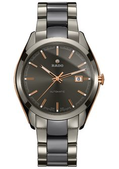 The #rado HyperChrome Automatic XL is made of plasma ceramic, an extremely durable and resistant to scratching material, which is treated to have a brilliant, metallic hue and will not fade over time. #watchtime #watchaddict #baselworld2015