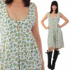 Vintage Grunge Dress 90s Dress Floral Dress by SHABBYBABEVINTAGE