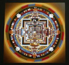 Tibetan mandala from a monastery in Kathmandu, Nepal. Tibetan Mandala, Tibetan Buddhism, Nepal Art, Sacred Art, World Cultures, Watercolor Background, Sacred Geometry, Meditation, Stock Photos
