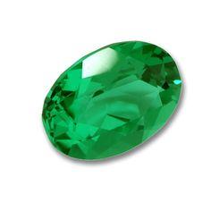 7x5mm Oval Gem Quality Chatham Cultured Lab-Grown Emerald .59-.73 Ct.