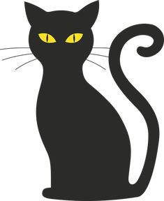 Mačka, Halloween, Silueta, Mačička, Čierna Mačka