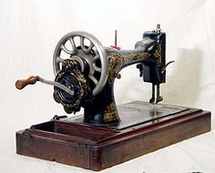 hand-crank sewing machine