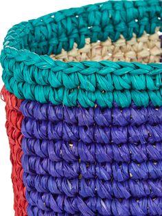 Tri-colour woven tote | Sensi Studio | MATCHESFASHION.COM