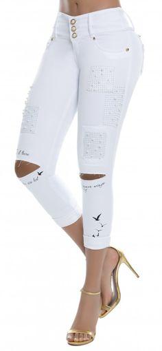 Jeans levanta cola LUJURIA 78833 Blanco