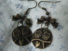 Vintage owl earring