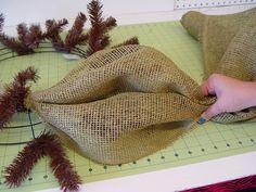 Western Keepsake Wreath Tutorial Using Deco Paper Mesh and Work Wreath Trendy Tree Blog