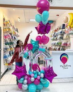 Balloon Arrangements, Balloon Centerpieces, Balloon Decorations Party, Birthday Decorations, Twisting Balloons, Mylar Balloons, Balloon Columns, Balloon Garland, Balloon Bouquet Delivery