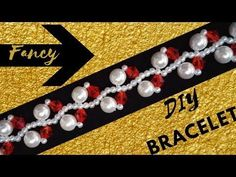 Fancy bracelet. Beaded jewelry making tutorial - YouTube
