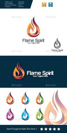 Flame Spirit Logo Template Vector EPS, AI. Download here: http://graphicriver.net/item/flame-spirit-logo/11495901?ref=ksioks