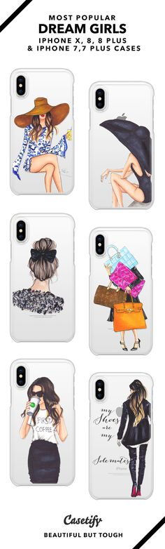Most Popular Dream Girls iPhone 8, iPhone 8 plus, iPhone 7, iPhone 7 Plus case. - Shop them here ☝️☝️☝️ BEAUTIFUL BUT TOUGH ✨ - fashion, illustrators, hats, illustrations, fashionista
