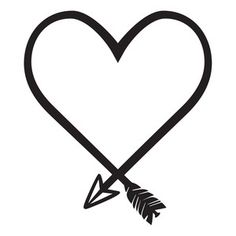 Silhouette Design Store: heart shaped arrow
