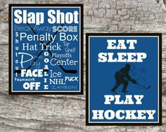 Hockey Sports print picture 8X10 bedroom room by Raising3Cains, $6.00