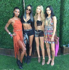 Hot commodities: Australian model Shanina Shaik rubbed shoulders with Gigi Hadid, Jourdan ...