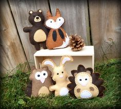 5 Mini Woodland Animals