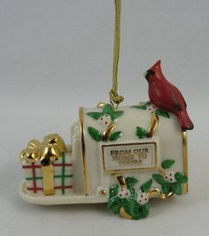 """LENOX 2003 ORNAMENT :FROM OUR HOME TO YOURS"""""""