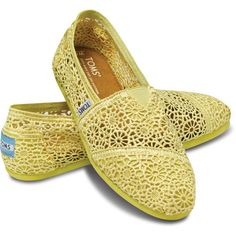 8554e52dbeb TOMS Crochet Classics Yellow for Women Size 8 (360 CNY) found on Polyvore  crochet