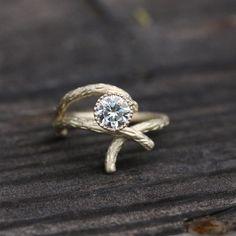 slight different gold engagement ring