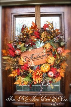 fall party decorations | Sign in wreath ♥ | Thanksgiving, Fall & Autumn Party Ideas