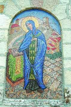 Mosaic Sveta Petka - Rose Church in Kalemegdan, Belgrade