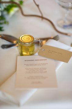 Honey jar wedding favour by Toast of Leeds Photography