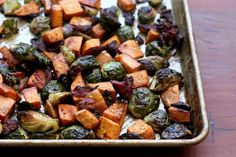 Brussels sprouts, sweet potatoes & bacon (Elly Says Opa!)
