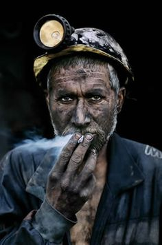 smoking miner..can't be a good thing..*not a celebrity, but just thought death, hence the category choice.