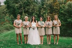 Cute dresses & bridesmaids can add individual style with jewelry & shoes Hudson Valley Wedding