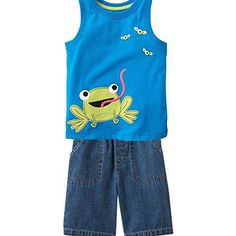 Jumping Beans Toddler Boy's 2pc Shorts Set 2t Happy Frog Denim Jumping Beans http://www.amazon.com/dp/B00N55AAU2/ref=cm_sw_r_pi_dp_p9maub1KXCQ2P