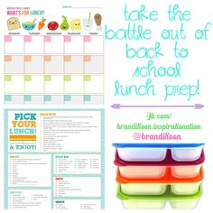 Back to school lunches!