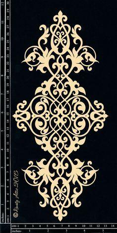 Discover thousands of images about Scrollwork Mais Stencil Patterns, Stencil Designs, Pattern Art, Pattern Design, Plotter Cutter, Stencils, Damask Stencil, Motif Floral, Scroll Saw Patterns