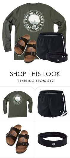 """~im gonna give you all of my love, nobody matters but you~"" by flroasburn on Polyvore featuring NIKE, Birkenstock and lululemon"