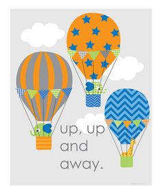 Get carried away by these heartwarming hot air balloons printed on archival art paper. Heaps of color, an original design and a touch of whimsy: with this print it's never been easier to add instant appeal to any wall.Available in multiple sizesPaper / inkMade in the USA
