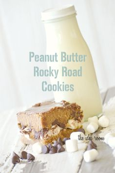Peanut Butter Rocky Road Cookies via Amy Huntley (The Idea Room) #cookies #recipes