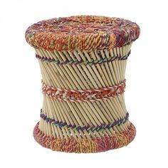 Colorful bamboo stool