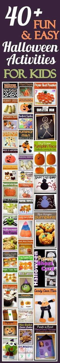 Little Family Fun: 40+ Halloween Activities for Kids! For the future (in my home) and at school!