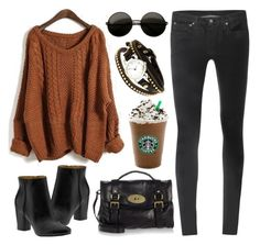 """""""Caramel"""" by hanaglatison ❤ liked on Polyvore featuring Nine West, Helmut Lang, Mulberry and Miss Selfridge"""