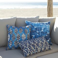 Pebbles outdoor pillow | West Elm