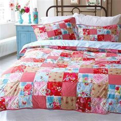 Bed spread. Bright and cheerful!