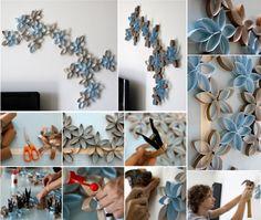 Paper Roll 3D Flower Art
